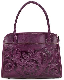 Paris Floral Embossed Satchel