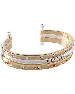 Blessed Three-row Cuff Bracelet