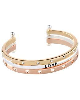 Love Three-row Cuff Bracelet