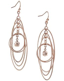 Orbital Crystal Multi Circle Dangle & Drop Earrings