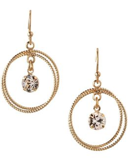Orbital Crystal Two-circle Dangle & Drop Earrings