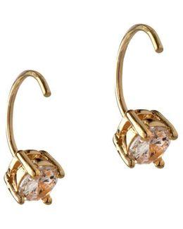 Orbital Clear Crystal Threader Earrings