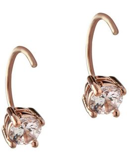 Orbital Clear Crystal Threader Earrings