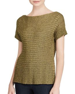 Dropped Shoulder Short-sleeve Sweater