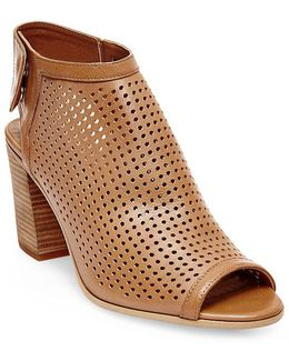 Suzy Perforated Leather Booties