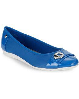 Azi Patent Cap-toe Flats