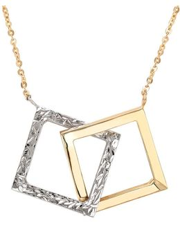 14k Yellow And White Gold Pendant Necklace