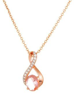 Morganite And Sterling Silver Pendant Necklace