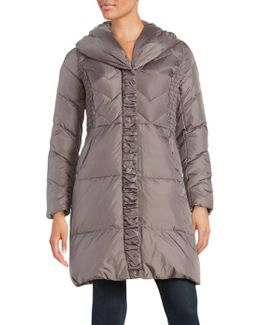 Pillow Collar Quilted Down Puffer Coat