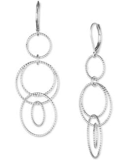 Silvertone Link Drop Earrings