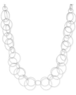Silverplated Open Link Collar Necklace