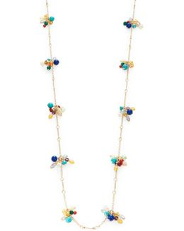 Semi-precious Cluster Necklace