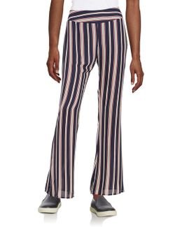 Striped Flat Front Pants
