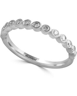 Pave Classica 14k White Gold Diamond Ring