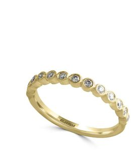 D Oro Diamond And 14k Yellow Gold Ring