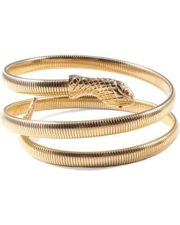 *vintage* Double Wrap Snake Cuff