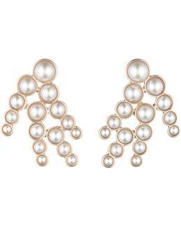 Pearl Spray Earring - White