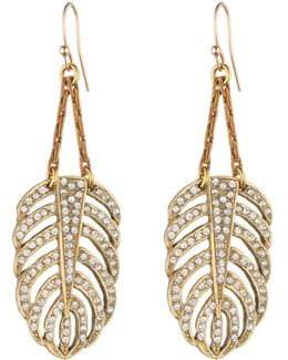 Goldtone Drift Earring - Small