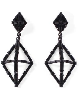 Helena Black Earring