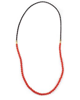 G. Frost X Michael Bastian - Horsehair Beaded Necklace Red