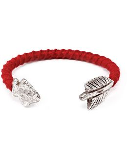 George Frost G. Frost Wrapped Arrowhead Cuff Red