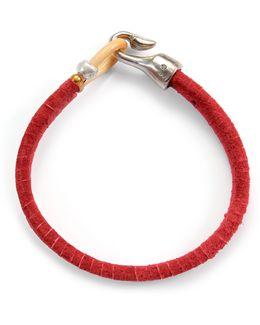 George Frost G. Frost Harpoon Suede Bracelet Red