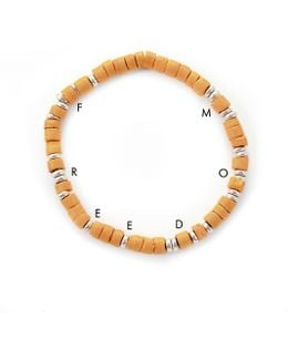 George Frost G. Frost Wooden Morse Bracelet Saffron