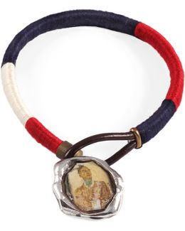George Frost G. Frost Tri-nation Wrapped Wax Seal Bracelet