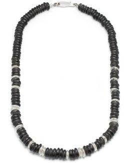 George Frost Stealth Morse Glass Bead Necklace
