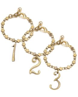 Plaza Number Bracelet - Diamond Chain