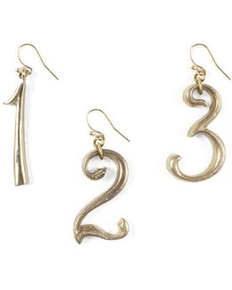 Plaza Number Earring