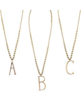 Plaza Letter Necklace - Mixed Chain