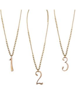 Plaza Number Necklace - Mixed Chain