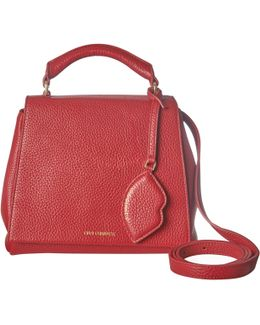 Red Grainy Leather Small Rita