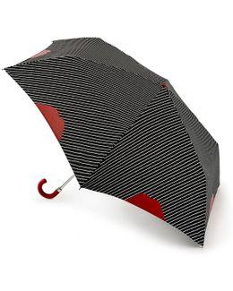 Black Lip Pinstripe Superslim Umbrella