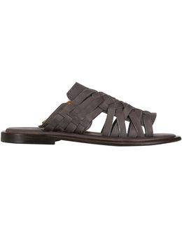 Hand Woven Nubuck Leather Sandals