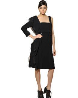 Organza Ruffle And Crepe Sable Dress