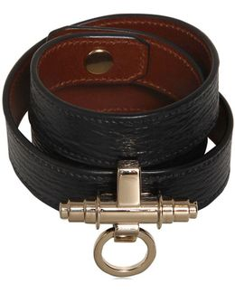 3 Rows Obsedia Leather Bracelet