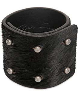 6cm Ponyskin 6 Pin Bracelet