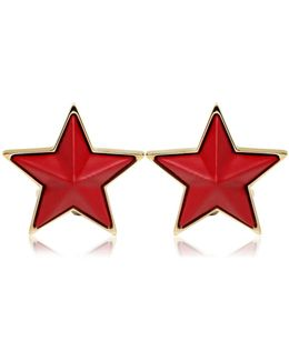 Resin And Brass Star Cufflinks