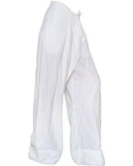 Washed Viscose Cloquè Trousers