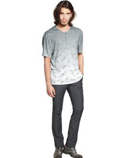 Linen Jersey Henley T-shirt