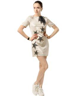 Sequin Stars Satin Dress
