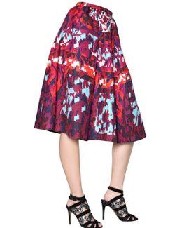 Long Emma Waffle Silk Skirt