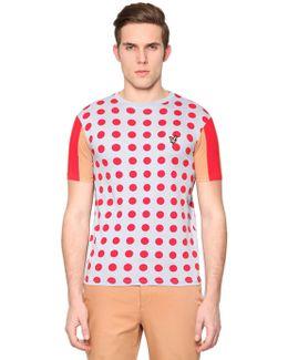 Polka Dot Printed Cotton T-shirt