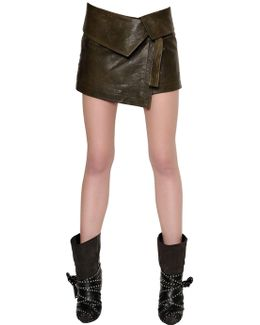 Nappa Leather Mini Skirt