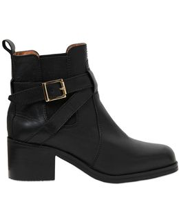 50mm Sadie Leather Ankle Boots