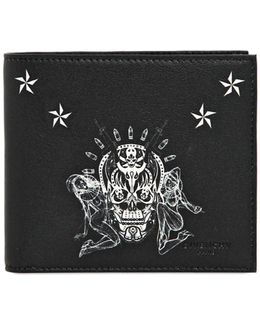 Tattoo Printed Leather Classic Wallet