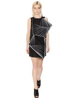 Viscose Organza And Crepe Duchesse Dress
