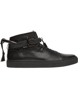 Glove Leather High Top Sneakers